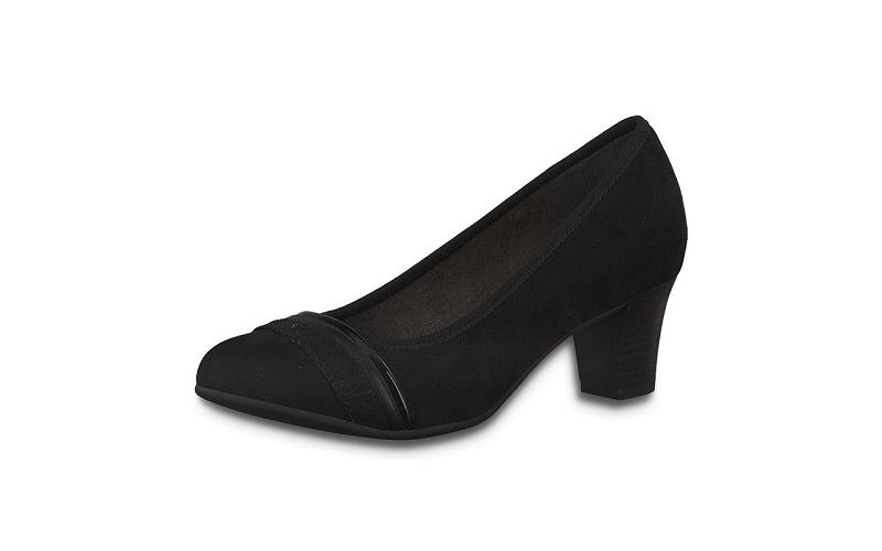 Jana Softline pump op een fijne blokhak van 4 cm, zacht voetbed, H-breedte (extra breed) - €49.95 -10%