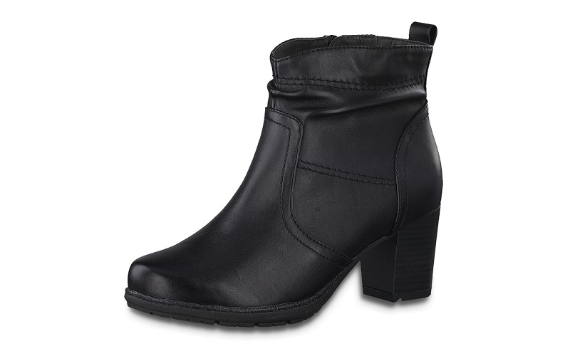 Jana Softline zwart enkellaarsje, blokhak van 5 cm, ritssluiting aan de binnenzijde, H-breedte (extra breed) - €59.95 -20%