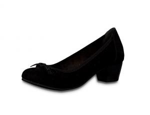 Zwarte Jana Softline pump, blokhakje van 3 cm, H-breedte (extra breed) - €49.95