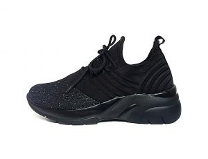 Remonte slip-on sneaker in zwarte textiel, uitneembare binnenzool, sleehak 3 cm, zeer licht en comfortabel - €69.95