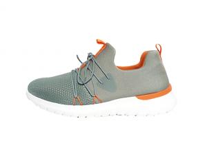Lage sneaker van Remonte in muntgroene textiel, uitneembaar voetbed, G-breedte (breed) - €64.95
