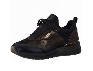 Lage sneaker van Tamaris op een vlakke zool, uitneembare binnenzool, sluiting met veter - €59.95