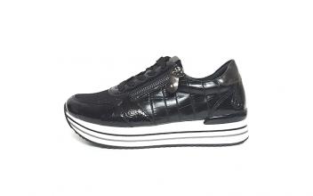 Lage sneaker van Remonte, uitneembaar voetbed, sluiting met veter én rits, G-breedte - €79.95