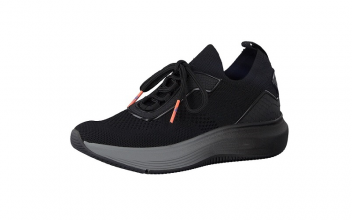 Tamaris Fashletics slip-on sneaker, zwarte mesh, uitneembare binnenzool, ultralicht en 100% comfort - €69.95