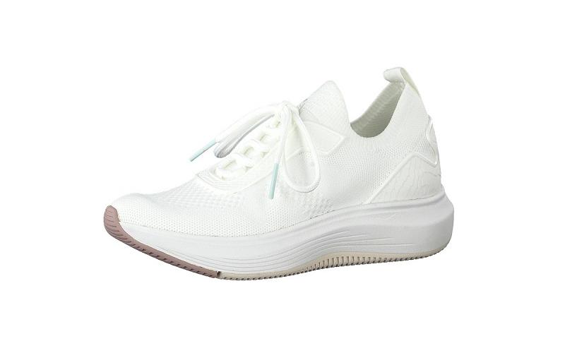 Tamaris Fashletics slip-on sneaker, witte mesh, uitneembare binnenzool, ultralicht en 100% comfort - €69.95